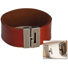 """Bracelet Connector 3/4"""" (19 mm) Antique Nickel Finish Tandy Leather 7001-02"""