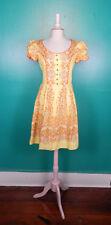 VINTAGE 60'S HANCKE DIRNDL OCTOBERFEST YELLOW DRESS 40