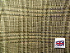 100% Pure Wool Soft Tweed Prince of Wales Check Design Fabric 1.8 m