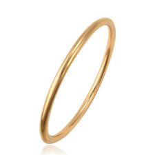 18k Yellow Gold F 65mm 2.5'' Bangle Bracelet 4mm Solid Plain Band Women AUS MADE