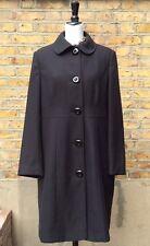 Debenhams Collection Women's Black Knee Length Coat UK 16 EUR 44