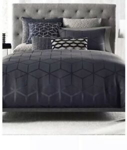 Hotel Collection Yarn Dyed Waffle Weave Chambray King Duvet Cover Cornflower