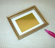 Miniature Gold Frame w/Ecru Mat for DOLLHOUSE Picture Framing 1/12 Scale