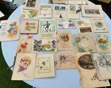 More details for greeting cards antique and vintage lot of 24