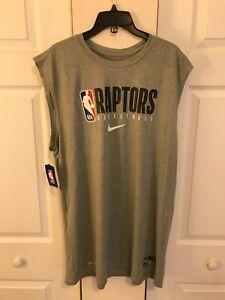Nike Toronto Raptors NBA Dri-Fit Sleeveless Shirt CD2786 Grey Men's XXL 2XL NWT