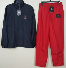 NIKE AIR JORDAN IV RETRO 4 FLIGHT SUIT JACKET +PANTS BLACK RED NEW (SIZE MEDIUM)