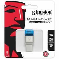 KINGSTON Kartenleser USB typ C STICK MobileLite Duo 3C micro USB Kartenlesegerät