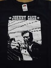 Mens (XL) JOHNY CASH Outlaw Barbwire SS Black Graphic T-Shirt