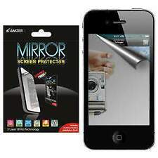 AMZER MIRROR SCREEN GURAD PROTECTOR WITH CLEANING CLOTH FOR APPLE IPHONE 4 4S