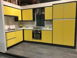 Kitchen Units Matt Lemon- Modern Handleless Design