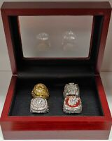 Chicago Blackhawks - Stanley Cup 4 Ring Set with Wooden Box. Toews, Mikita, Hull