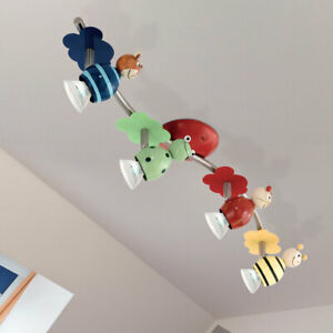 LED Decken Spot Leiste verstellbar Kinder Leuchte Spiel Zimmer Strahler Lampe