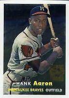 2000 Topps Aaron Chrome #4 Hank Aaron 1957 - NM-MT