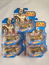 Star Wars Hot Wheels C-3PO VW Drag Bus Lot of 5