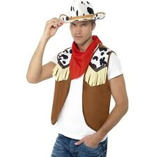 Smiffy S Instant Kit Wild West Male With Waistcoat Neck Scarf and Hat