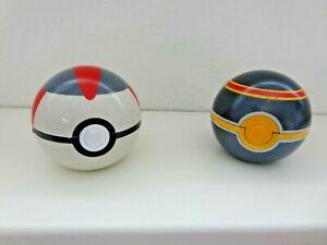 2PCS/Set  Tomy Pokemon Nintendo Throw Pop PokeBall