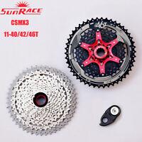 SunRace 10Speed 11-40/42/46t Mountain Bike Cassette Shimano SRAM Flywheel CSMX3