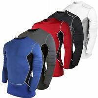 Men Compression Long Sleeve Tops Sportswear Base Layers Skin Gym Fitness T-Shirt