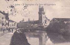 PADOVA - Il Bacchiglione e la Torre dell'Osservatorio 1910