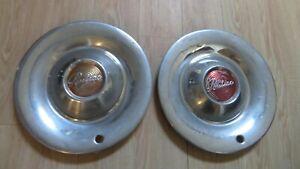 2 1949 1950 Pontiac Hubcaps Sombrero Deluxe Chieftain Wheel covers hubcaps