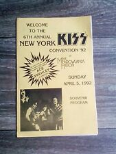 kiss magazine,1992, program New York Kiss convention souvenir rear