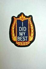 BSA: I did my Best Patch - Boy Scouts - MINT