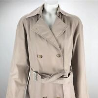 Orvis Women's Gore Tex Vented Lined Spring Rain Trench Coat Khaki Size 6