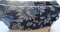 Vera Bradley Tropics Tapestry Medium Cosmetic Case- Make-up- quilted floral blue