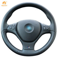 Leather Steering Wheel Cover for BMW E71 X6 M 2010-2014 E70 X5 M 2010-2013 #BM20