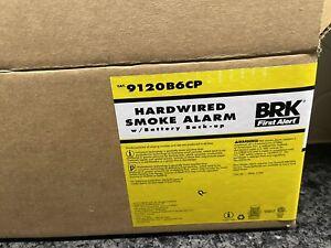 First Alert BRK 6-Pack AC Hardwired 120-Volt Smoke Detector. 9120B6CP