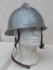 Original edad polaco casco de bombero puesto plateados