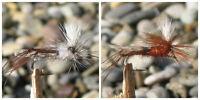 Gilchrist Fliegen.3 x  PARACHUTE SEDGE. Auswahl von Farben & Größen