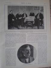 Printed photo the Venezuela venezuelan commission at Washington 1903