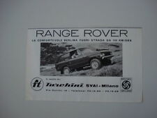 advertising Pubblicità 1971 RANGE ROVER