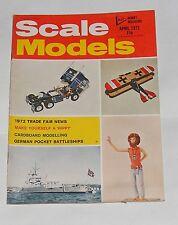 SCALE MODELS APRIL 1972 - GERMAN POCKET BATTLESHIPS/LUTZOW & SCHEER PLAN