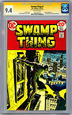 SWAMP THING #7 CGC-SS 9.4 *SIGNED ARTIST BERNIE WRIGHTSON* BATMAN CROSSOVER 1973