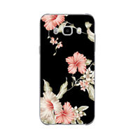 Soft TPU Case Cover for Samsung Galaxy S8 S7 Note 8 9 Skin A3 A5 A7 J7 J5 Flower