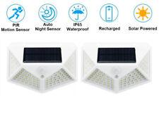 New listing 2 White 100 Led Waterproof Solar Pir Power Motion Sensor Wall Light Garden Lamp