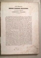 CENNI BIOGRAFICI DEGLI UOMINI ILLUSTRI ICONOTECA ITALIANA 1854