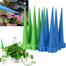 12X Automatic Cone Watering Spike Garden Flower Plant Water Bottle Irrigation^
