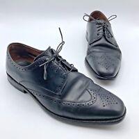 Allen Edmonds Bel Air Men Black Leather Wingtip Oxford Shoe Size 10D Pre Owned