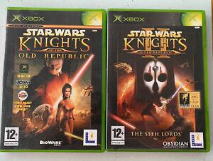 Star Wars Knights Of The Old Republic 1 + 2 Bundle (Original Xbox, Microsoft)