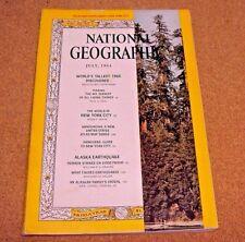 National Geographic July 1964 World's Tallest Tree New York City Alaska Earthqua