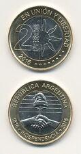 Argentina/Argentina - 2 pesos 2016 bimetal - 200 años de independencia-UNC