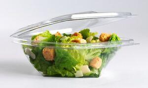 Clear Hinged Twisty Salad Bowls 250cc  500cc  750cc
