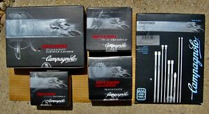 PARTIAL ROAD GROUPSET CAMPAGNOLO RECORD 10 SPEED NOS IN ORIGINAL UNOPENED BOXES