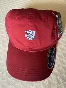 New ELMHURST Country Club Golf Hat Adjustable Burgundy by AHEAD (G-3)