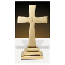 "Solid Brass Chapel Altar Cross, 12""H"