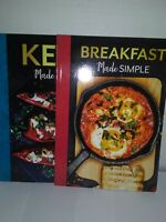 Two made simple cookbooks, Breakfast & Keto, New. By Judith A.Pearce. Very nice.