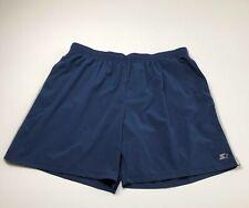 Starter Men's Activewear Shorts XXXL Blue Gray Stripes Elastic Waist Drawstring